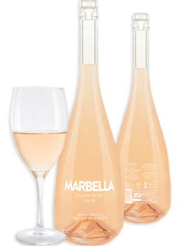 Marbella blush rose wine